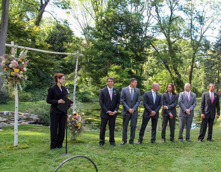 Hollis Payer wedding officient