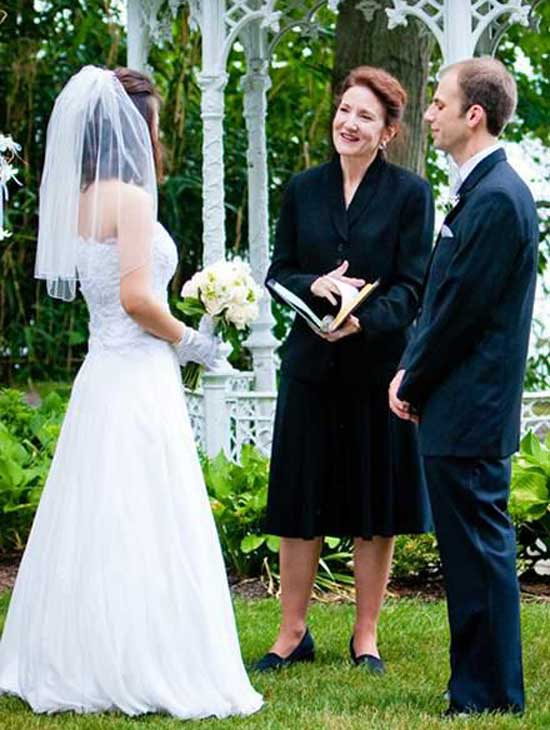 Hollis Payer wedding officiant